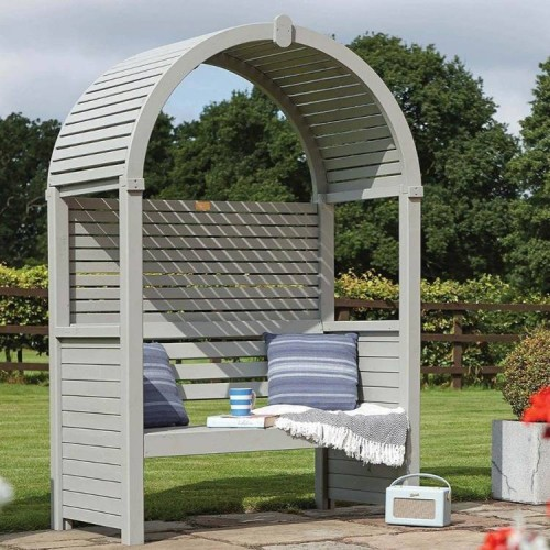 Modena Arbour - Sheltered Outdoor Seating - Natural Timber