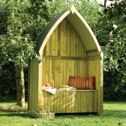 Winchester Arbour - Sheltered Outdoor Seating - Natural Timber