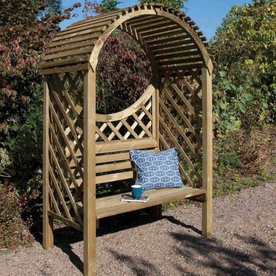 Keswick Arbour - Shaded Outdoor Seating - Natural Timber