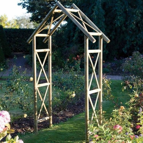 Rustic Arch Garden Furniture - Natural Timber
