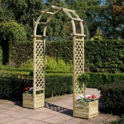 Round Top Arch Garden Furniture - Natural Timber