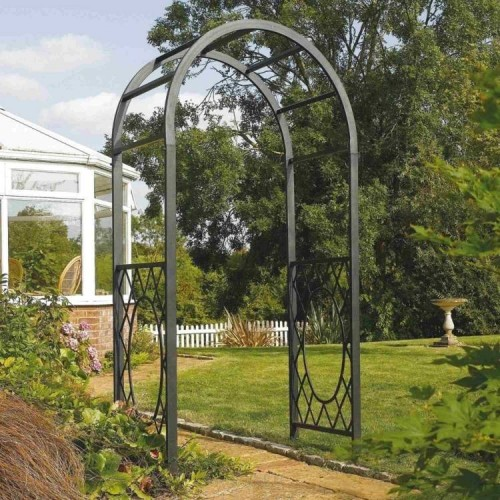 Wrenbury Gunmetal Grey Round Top Arch Garden Furniture