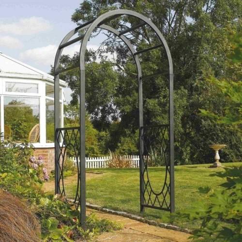 Wrenbury Gunmetal Grey Round Top Arch Garden Furniture