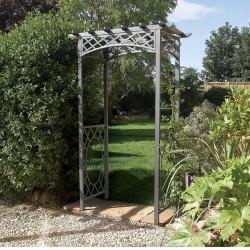 Wrenbury Gunmetal Grey Arch Garden Furniture - Natural Timber