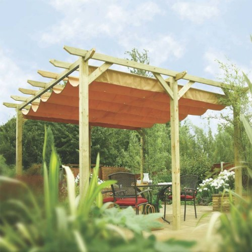 Verona Canopy/Gazebo - Natural Timber