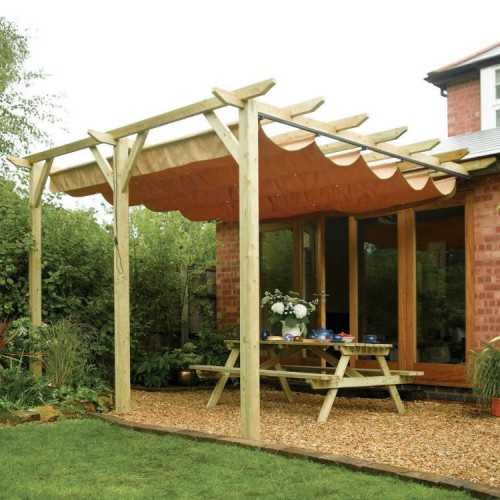 Sienna Canopy/Gazebo - Natural Timber