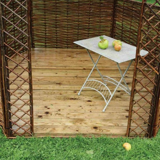 Willow Gazebo Natural Timber Floor