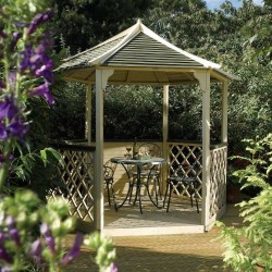 Gainsborough Six Sided - Gazebo - Natural Timber