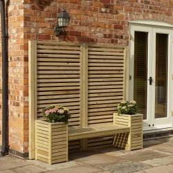 Seat Set Garden Creations - Natural Timber