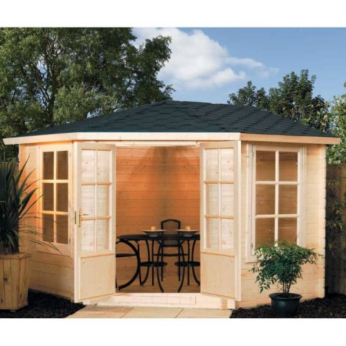 Large Kestrel Summerhouse - Natural Timber