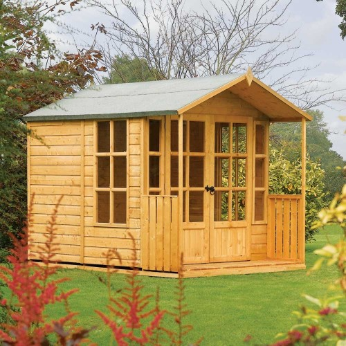 Arley Summerhouse - Honey Brown - Natural Timber