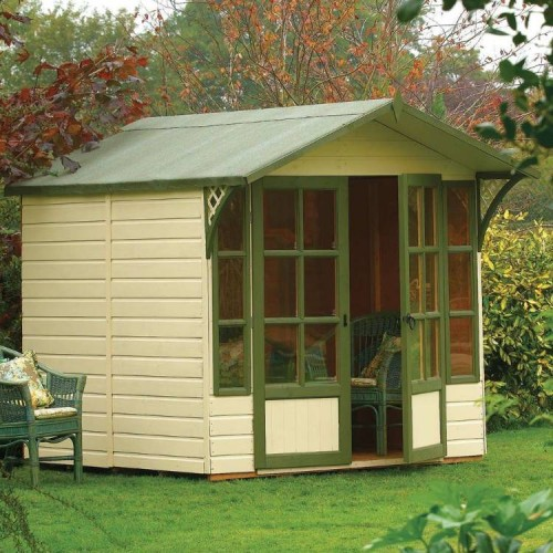 Eaton Summerhouse - Honey Brown - Natural Timber