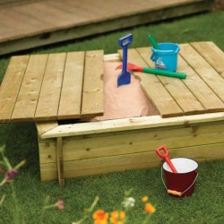 Kids Sandpit with Lid - Natural Timber