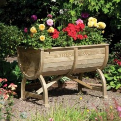 Marberry Barrel Planter - Natural Timber