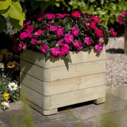 Marberry Square Planter - Natural Timber