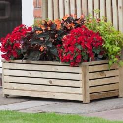 Pressure Treated - Rectangular Planter - Natural Timber