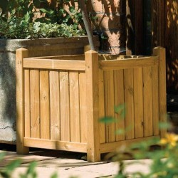 Pressure Treated - Square Planter - Natural Timber