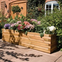Large 1.8m Patio Planter - Natural Timber