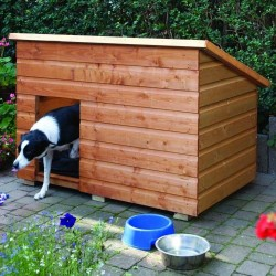 Large Dog Kennel - Natural Timber