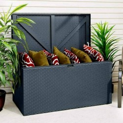 Metal Outdoor Deck Box - Anthracite Grey