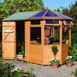 Standard Potting Storage Shed - Dipped Honey Brown