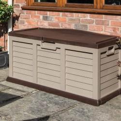 Plastic Outdoor Storage Box/Bench Mocha