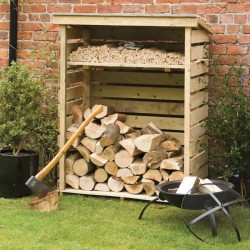 Small Outdoor Log Storage