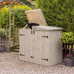 Heritage Apex Waste Bin Storage - Grey Wash Paint