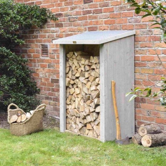 Heritage Log Storage - Grey Wash Paint