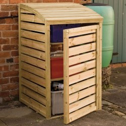 Small Outdoor Storage Box - Natural Timber